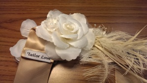 bridal sash made @tailorlove