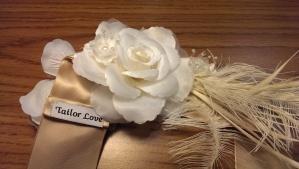 bridal sash made @tailorlove
